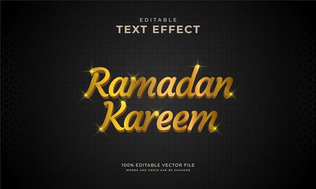 Effet de texte or modifiable ramadan kareem