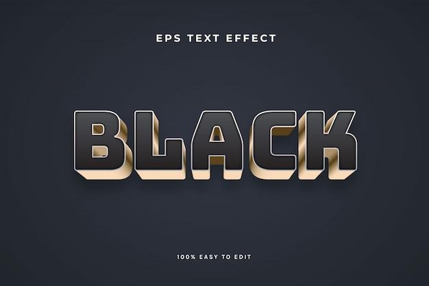 Effet de texte en or noir