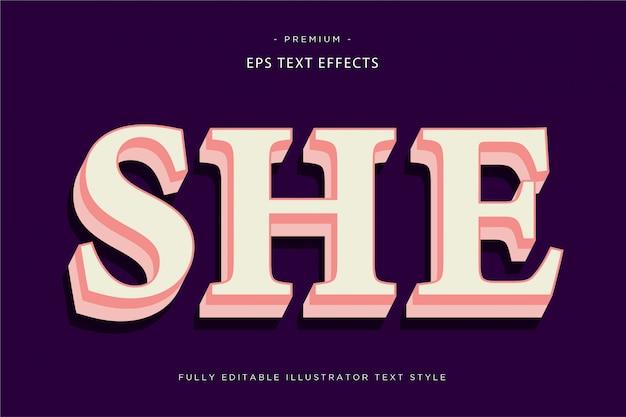 Effet de texte or riche style de texte 3d riche