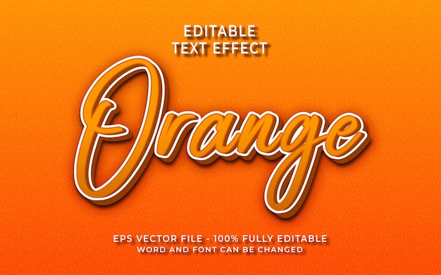 Effet de texte orange créatif