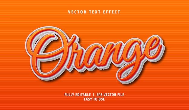 Effet de texte orange, style de texte modifiable