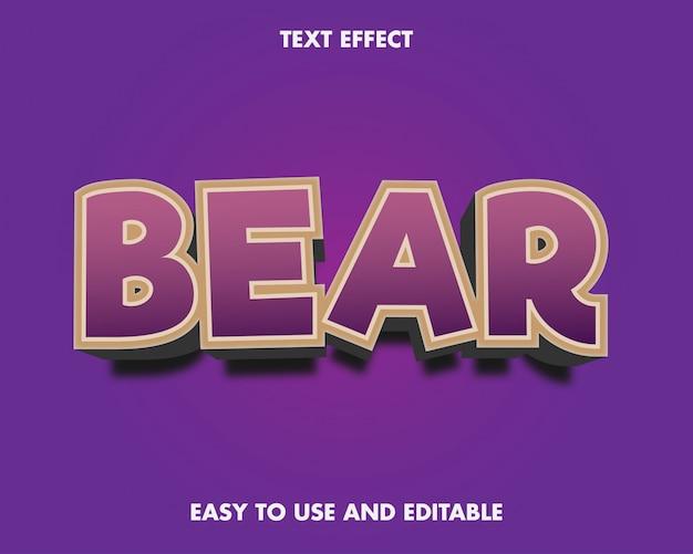Effet de texte d'ours.