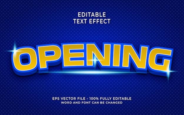 Effet de texte d'ouverture créatif