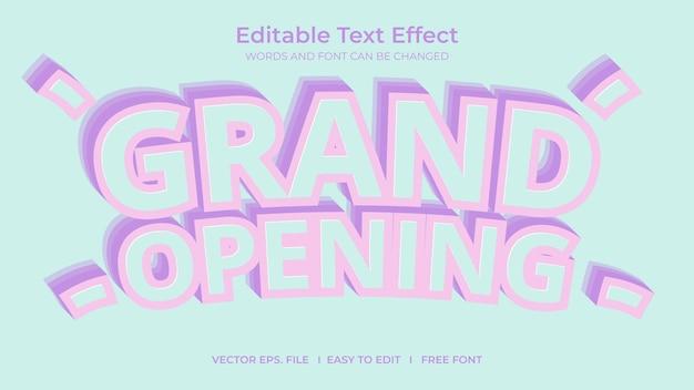 Effet de texte d'ouverture officielle