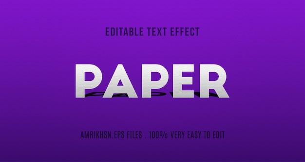 Effet de texte papercut