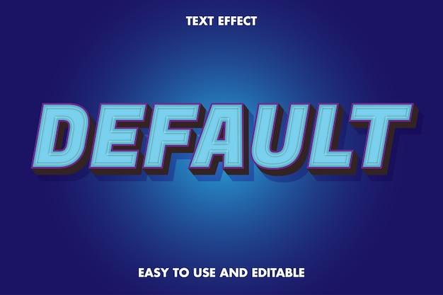 Effet de texte par défaut. style de police modifiable.