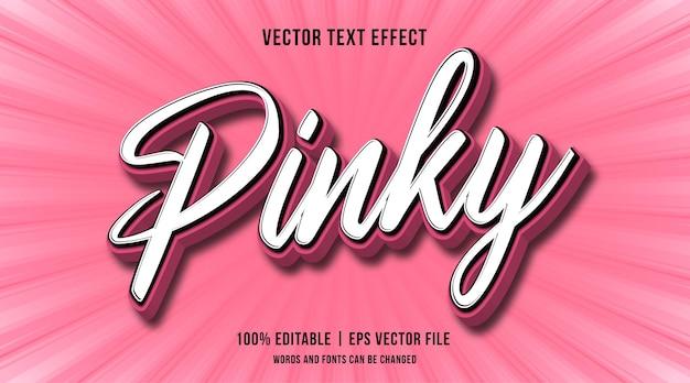 Effet de texte pinky modifiable