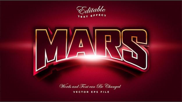 Effet de texte de la planète mars