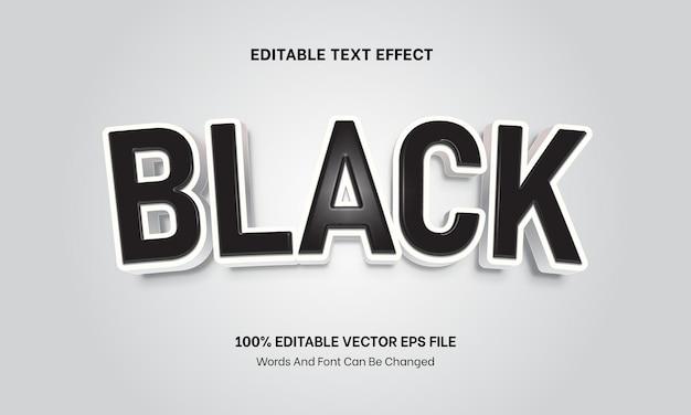 Effet de texte en plastique noir effet de texte modifiable