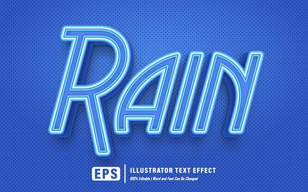 Effet de texte de pluie - effet de texte modifiable - le mot et la police peuvent être modifiés