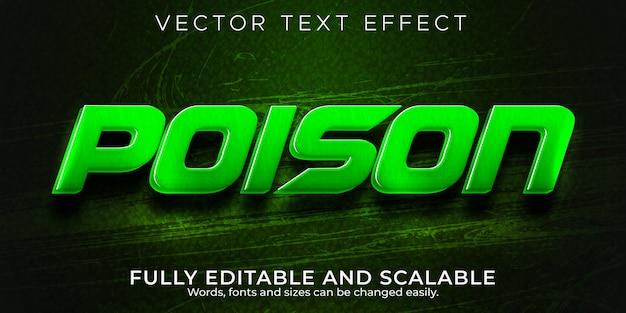 Effet de texte de poison, vipère modifiable et style de texte de jeu