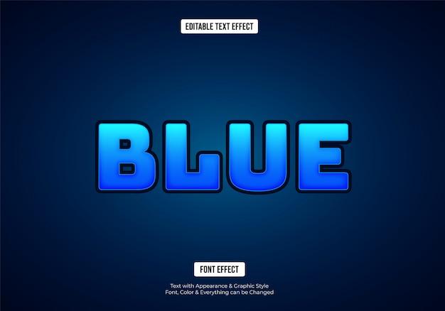Effet de texte de police bleu brillant