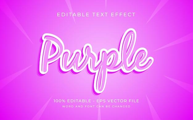 Effet de texte de police modifiable de style d'effet de texte violet