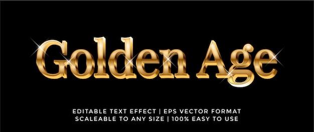 Effet de texte de police d'or de luxe 3d
