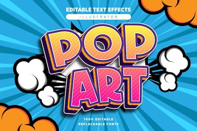 Effet de texte pop art modifiable en style bande dessinée