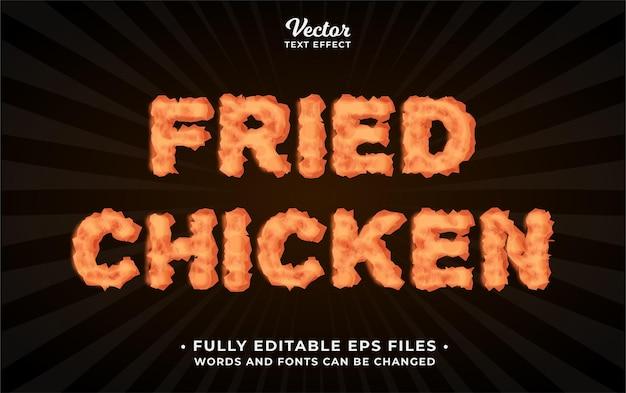 Effet de texte de poulet frit modifiable eps cc