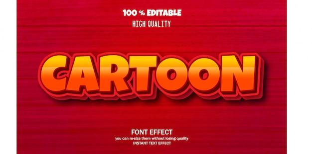 Effet de texte pour un effet de dessin animé cool, effet de police modifiable
