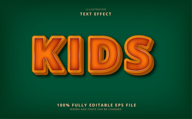Effet de texte pour enfants
