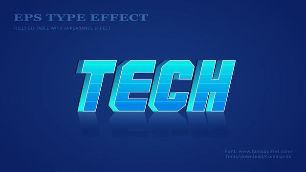 Effet de texte pour tect avec un style audacieux 3d futuriste cool