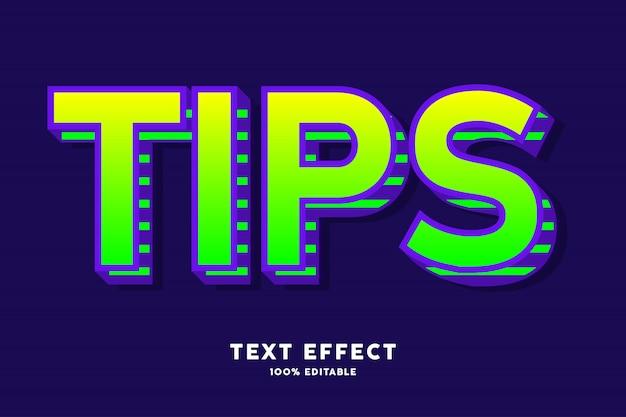 Effet de texte pourpre vert pop art moderne, texte modifiable