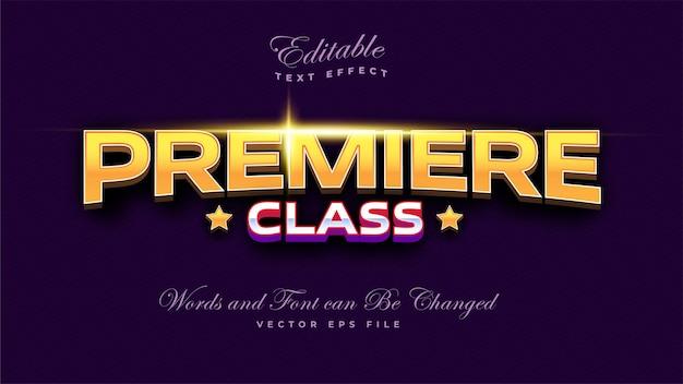 Effet de texte de première classe