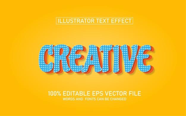 Effet de texte premium créatif