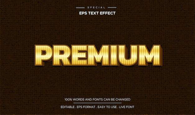 Effet de texte premium