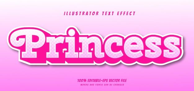Effet de texte princesse