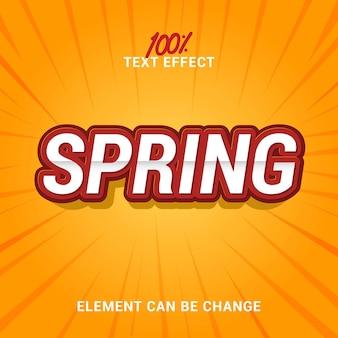 Effet de texte de printemps