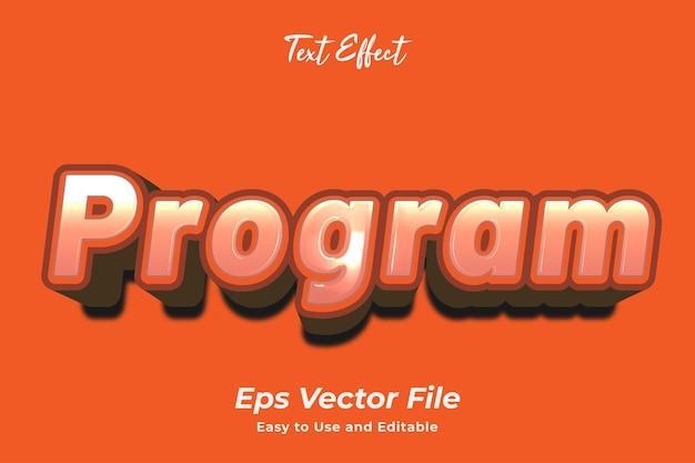 Effet de texte programme modifiable et facile à utiliser vecteur premium
