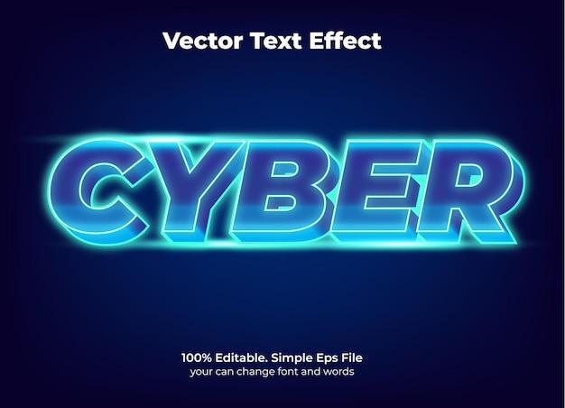 Effet de texte de promotion du cyber lundi modifiable
