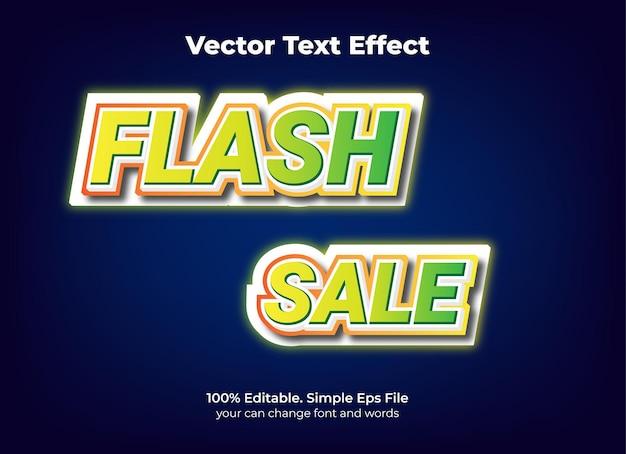 Effet de texte de promotion de vente flash modifiable