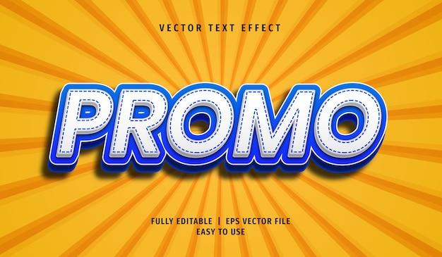 Effet de texte promotionnel 3d, style de texte modifiable