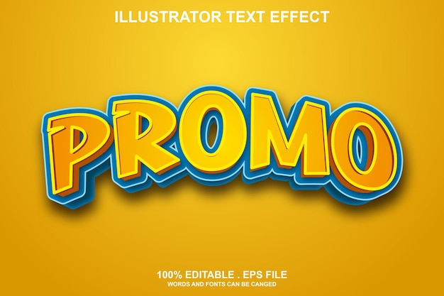 Effet de texte promotionnel modifiable