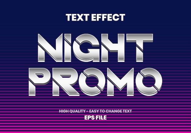 Effet de texte promotionnel de nuit