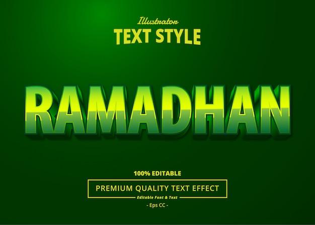Effet de texte ramadan