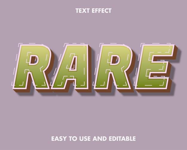 Effet de texte rare. facile à utiliser et modifiable. illustration vectorielle premium