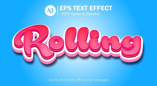 Effet de texte réaliste 3d pop up