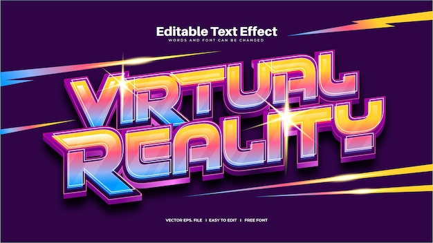 Effet de texte de réalité virtuelle