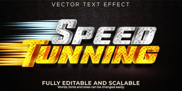 Effet de texte de réglage de la vitesse, style de texte modifiable de course et de sport