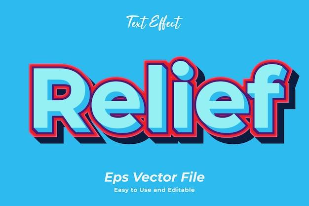 Effet de texte en relief vecteur premium modifiable et facile à utiliser