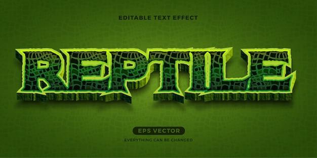 Effet de texte reptile