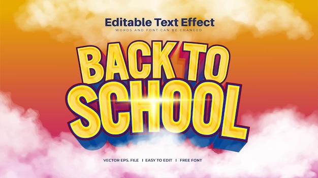 Effet de texte de retour à l'école