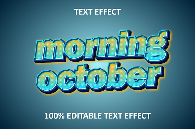 Effet de texte rétro modifiable orange bleu