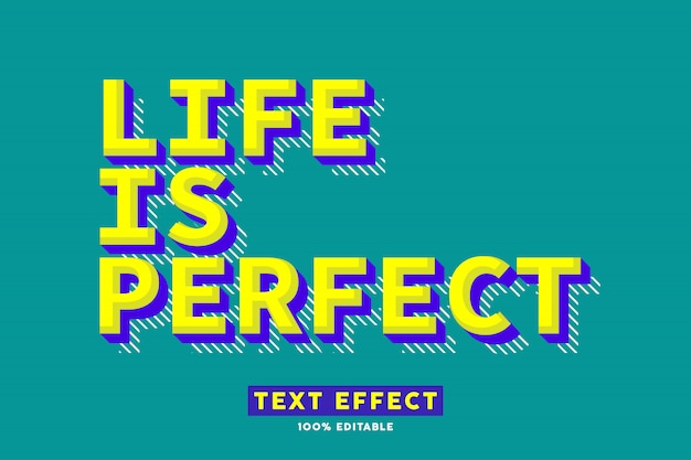 Effet de texte rétro pop art, texte modifiable