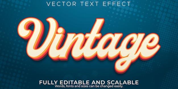 Effet de texte rétro et vintage, style de texte modifiable des années 70 et 80