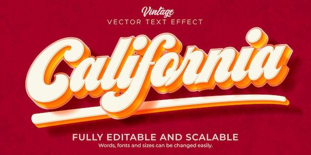 Effet de texte rétro, vintage, style de texte modifiable des années 70 et 80
