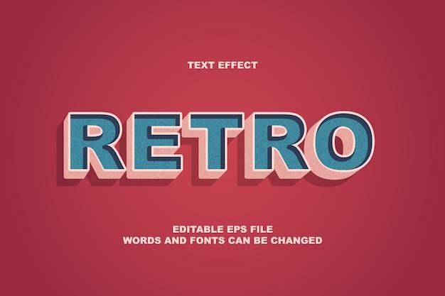 Effet De Texte Rétro Vecteur Premium