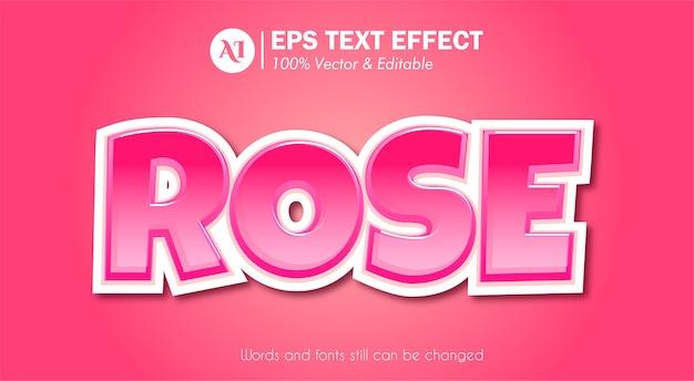 Effet de texte rose