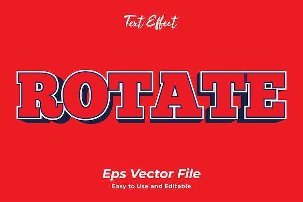 Effet de texte rotation vecteur premim modifiable et facile à utiliser